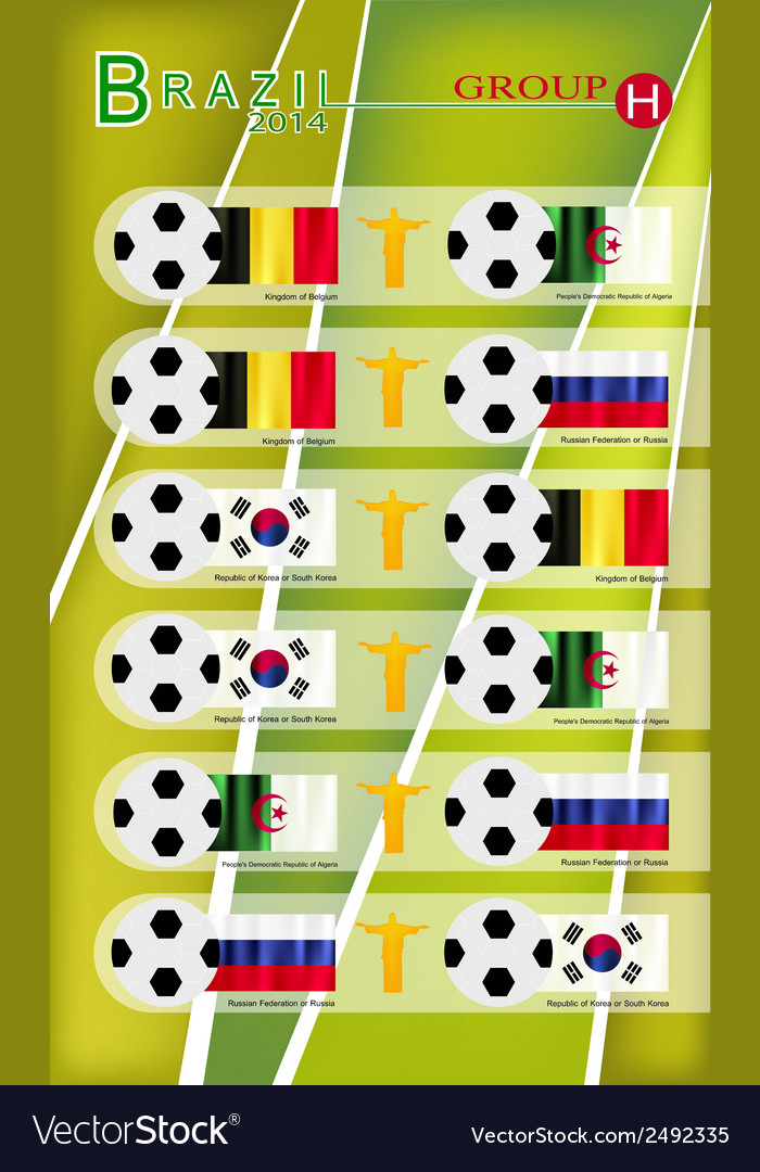 Football tournament of brazil 2014 group h vector | Price: 1 Credit (USD $1)