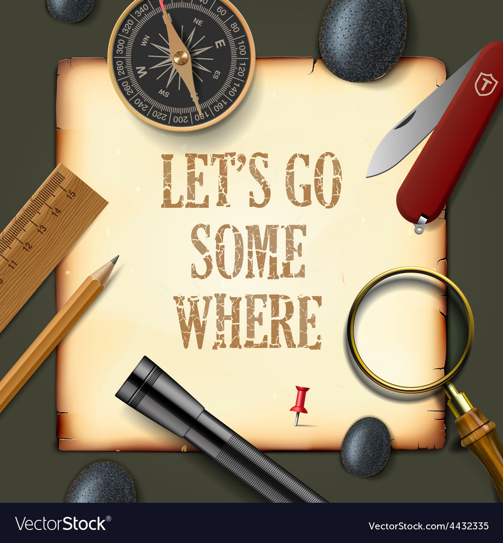 Lets some where adventure motivation concept vector