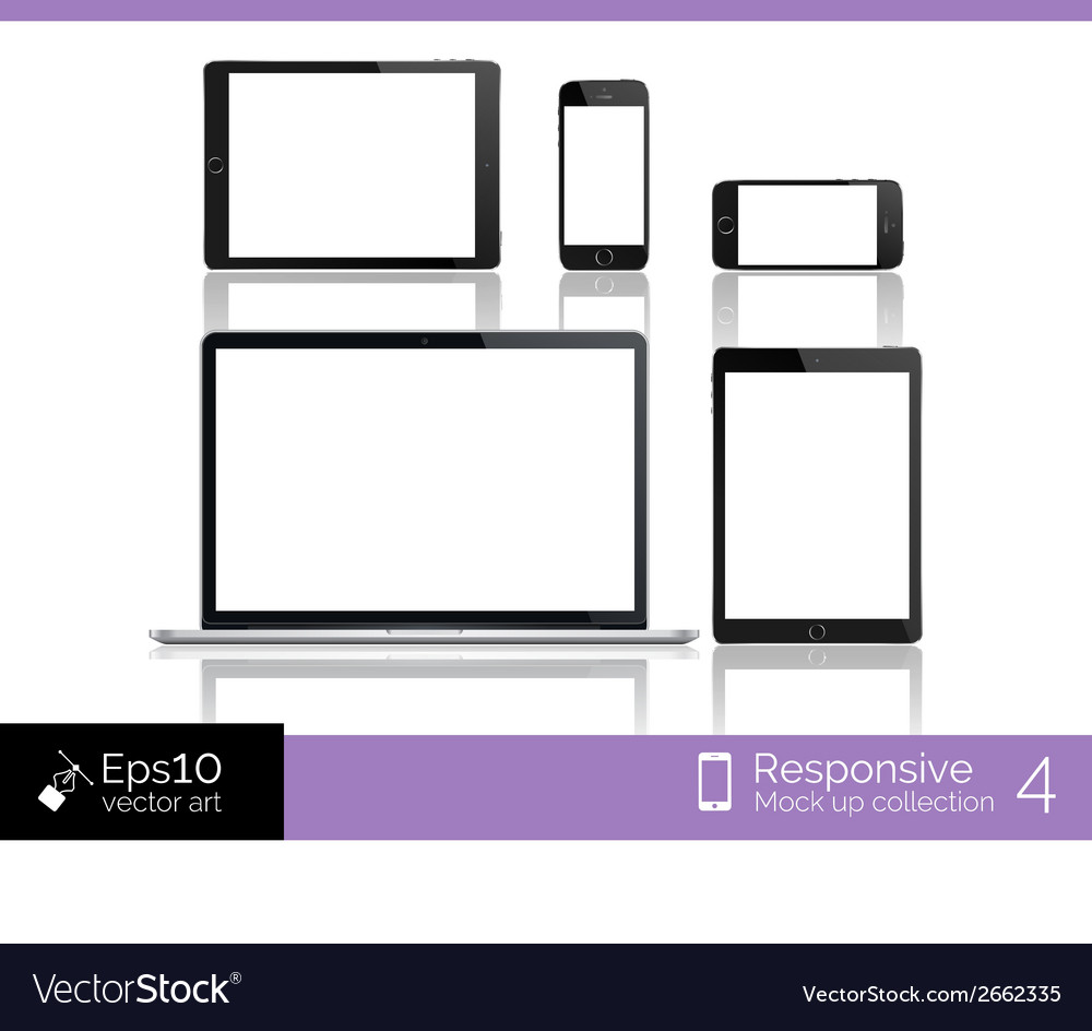 Modern laptop glossy tablet and smartphone vector | Price: 1 Credit (USD $1)