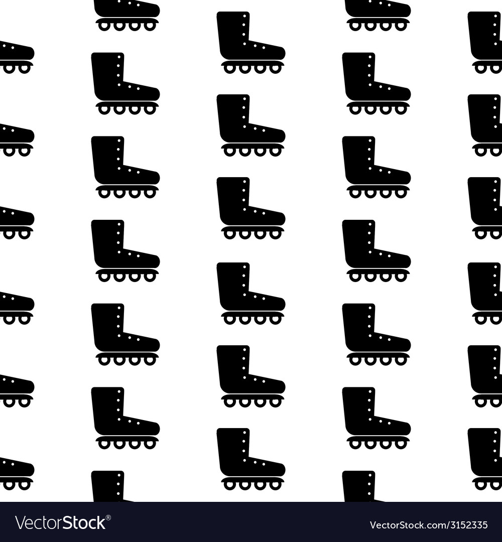 Roller skates symbol seamless pattern vector | Price: 1 Credit (USD $1)