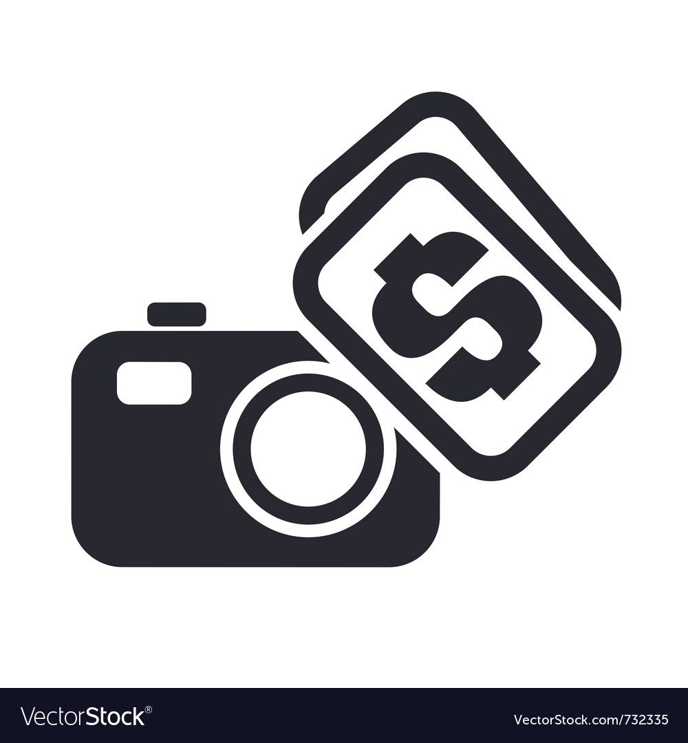 Sell photo icon vector | Price: 1 Credit (USD $1)