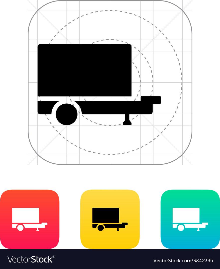 Trailer icon vector | Price: 1 Credit (USD $1)