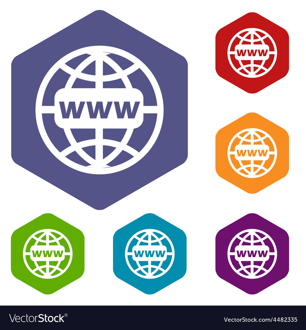 Www world rhombus icons vector | Price: 1 Credit (USD $1)