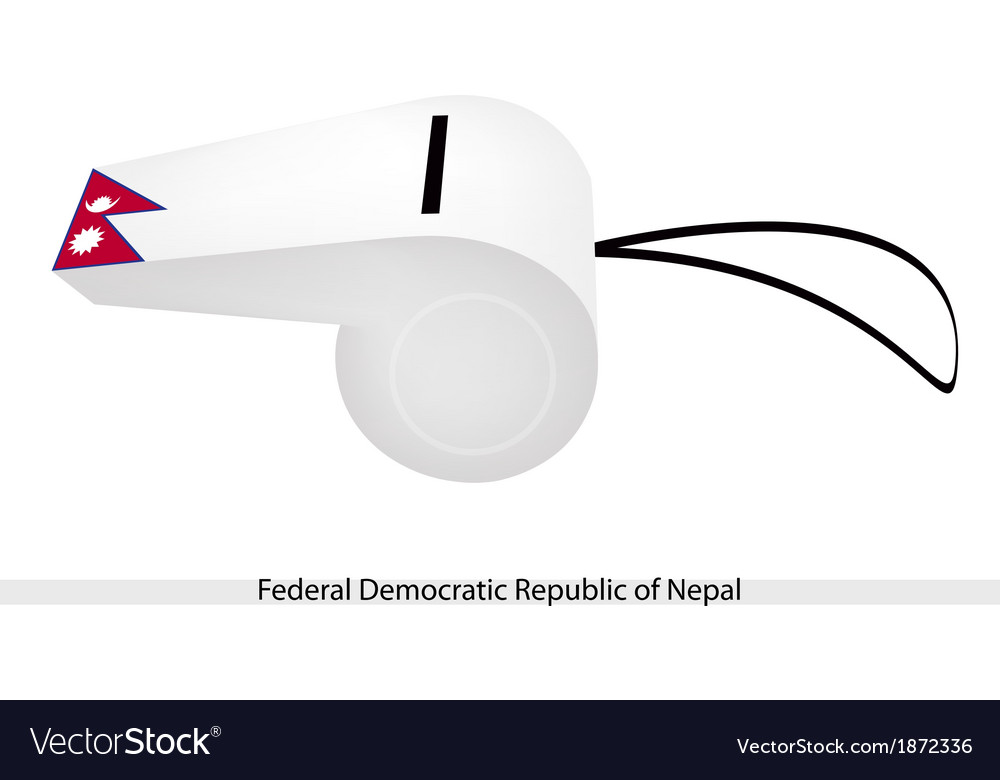 A whistle of federal democratic republic of nepal vector | Price: 1 Credit (USD $1)