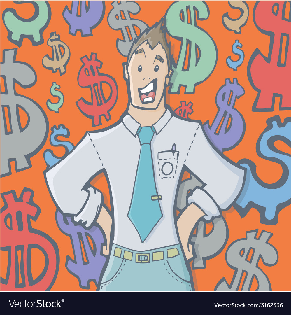 Businessman 380x400 vector | Price: 1 Credit (USD $1)