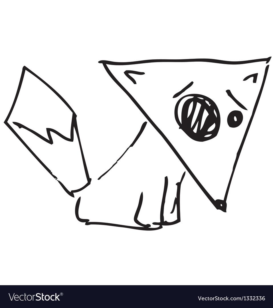 Cartoon fox vector | Price: 1 Credit (USD $1)