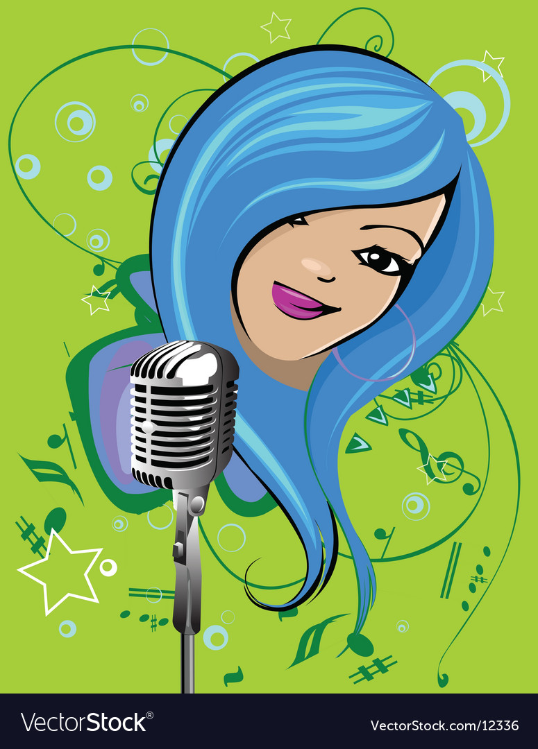 Cartoon singer vector | Price: 3 Credit (USD $3)