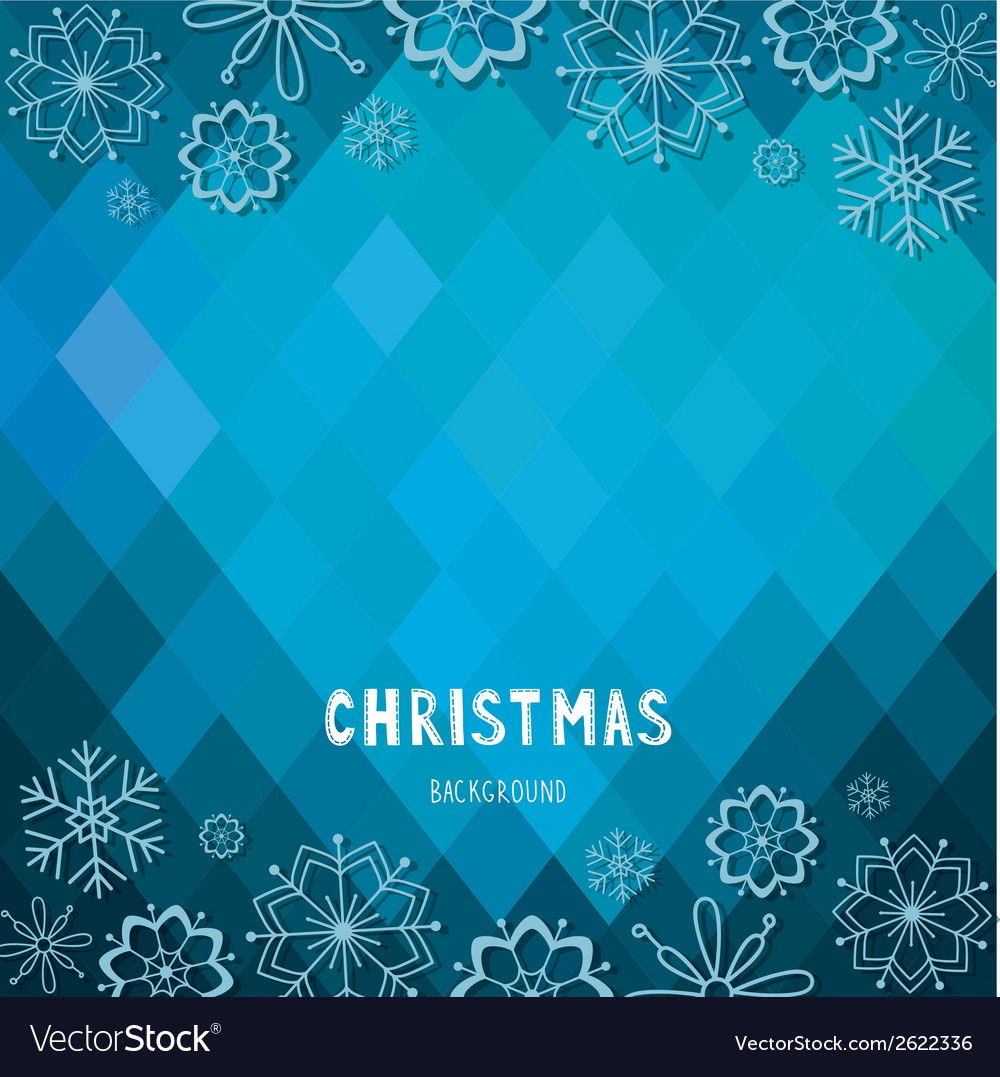 Christmas and new year rhombus background vector | Price: 1 Credit (USD $1)