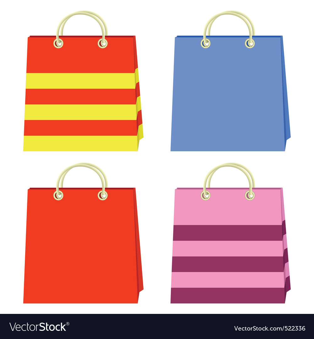 Color bags vector | Price: 1 Credit (USD $1)