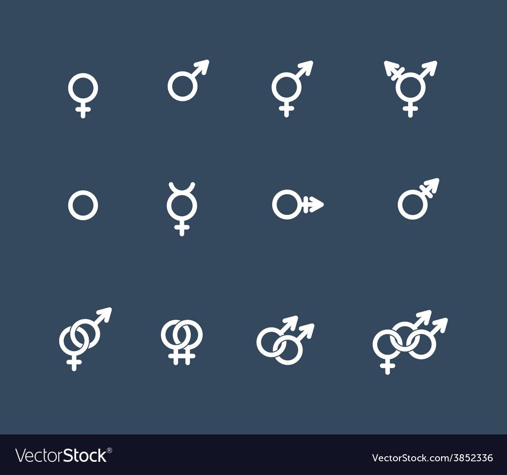 Gender symbol icon set vector | Price: 1 Credit (USD $1)