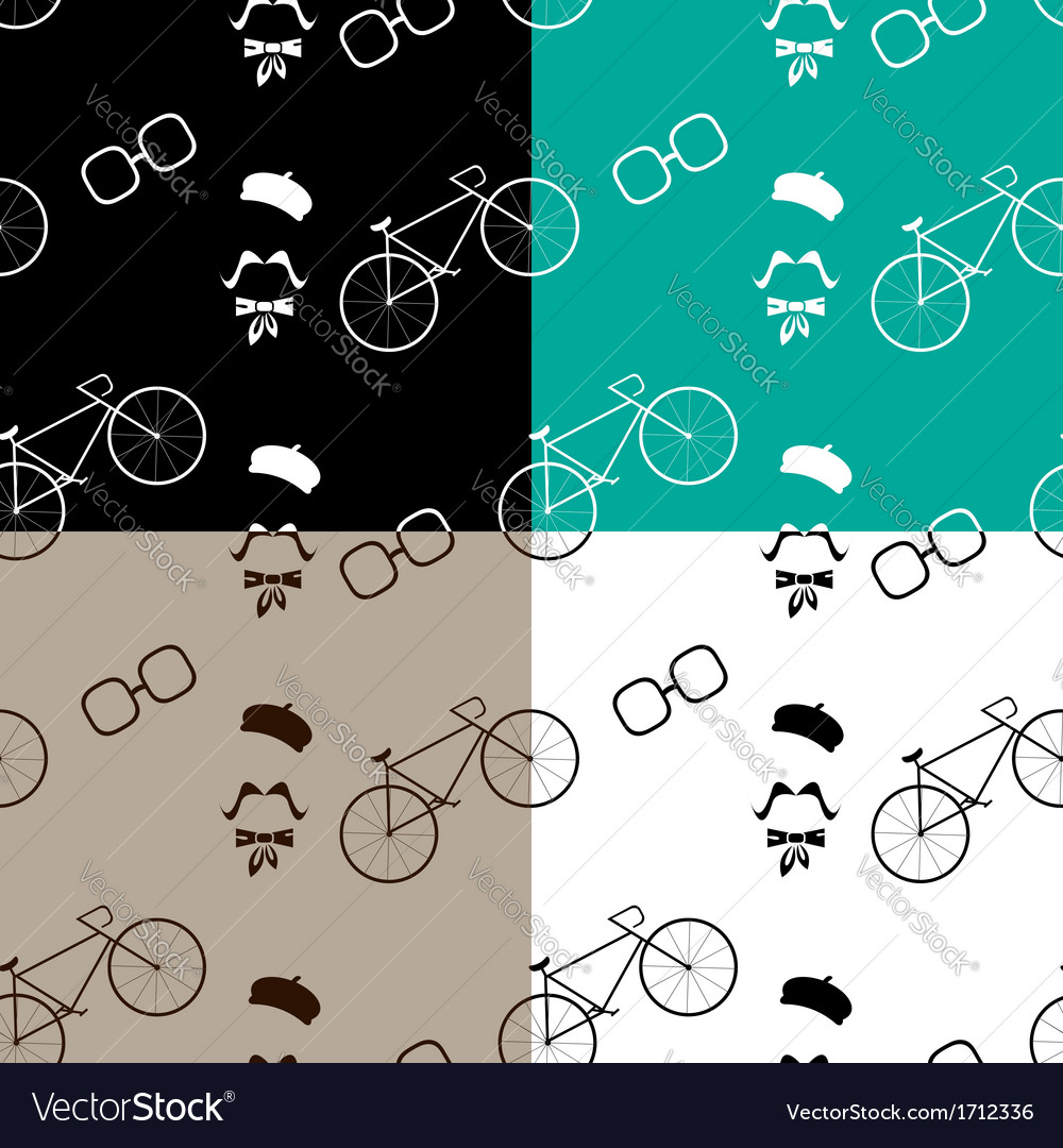 Hipster with modern bike pattern vector | Price: 1 Credit (USD $1)