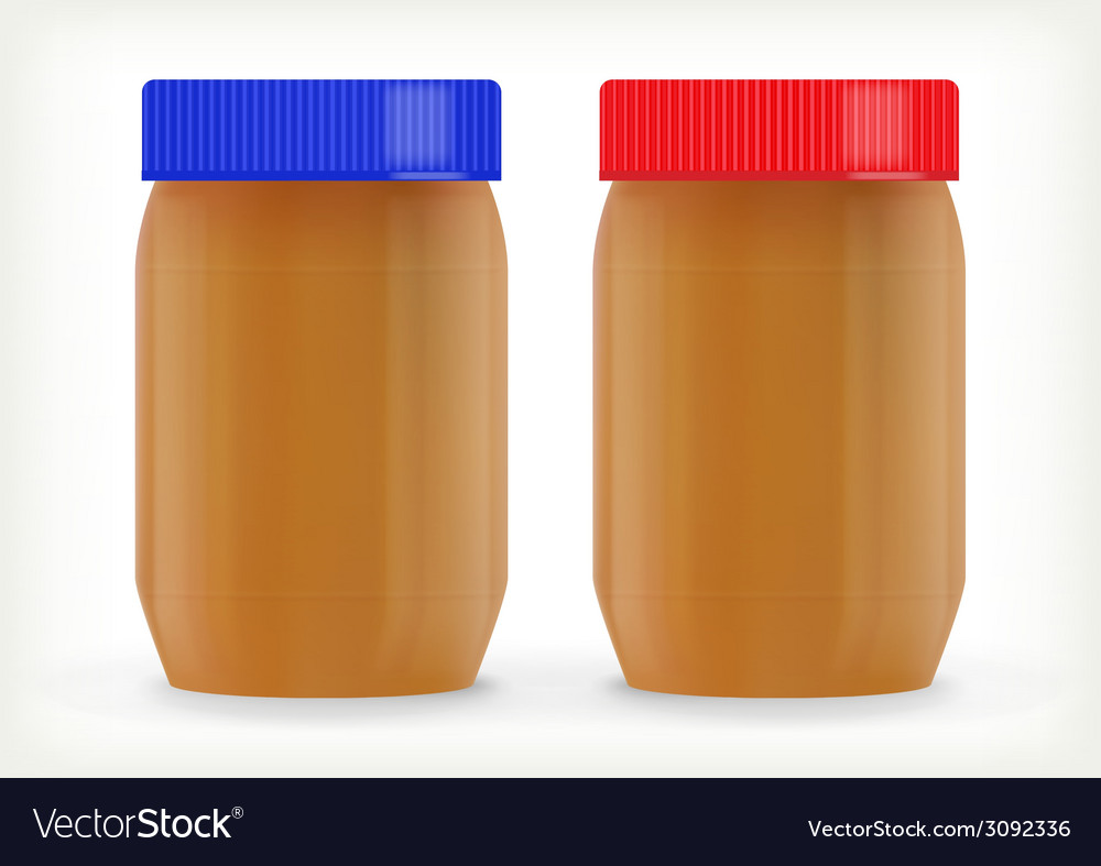 Jars of peanut butter vector | Price: 1 Credit (USD $1)