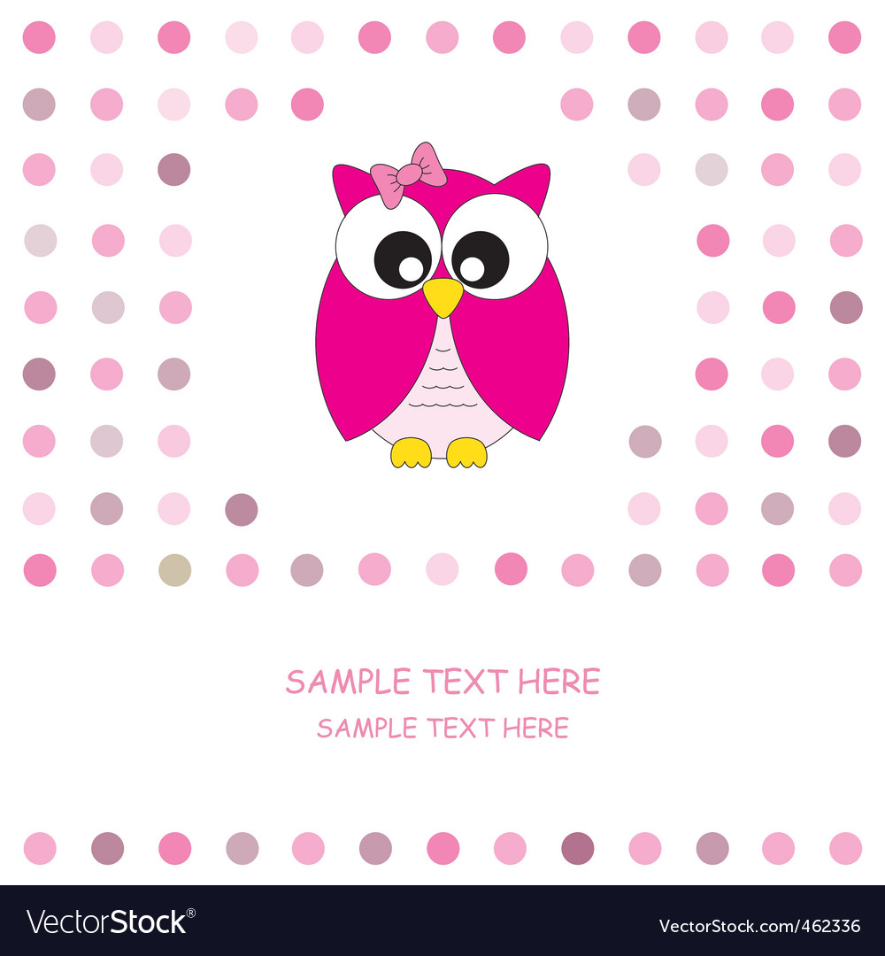 Owl pink vector | Price: 1 Credit (USD $1)