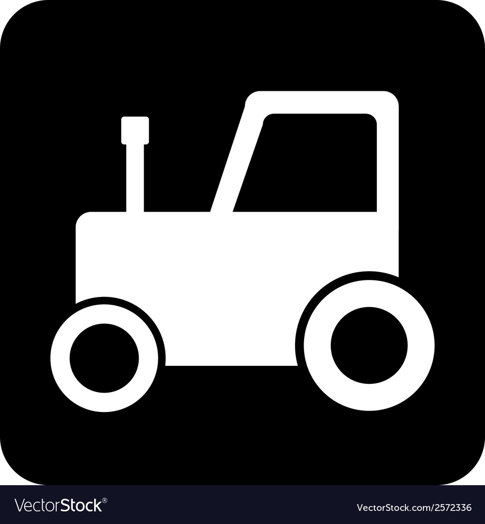 Tractor button vector | Price: 1 Credit (USD $1)