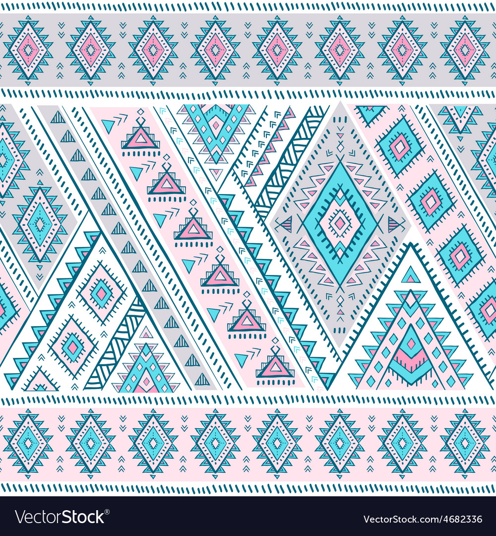 Tribal mexican vintage ethnic seamless pattern vector | Price: 1 Credit (USD $1)