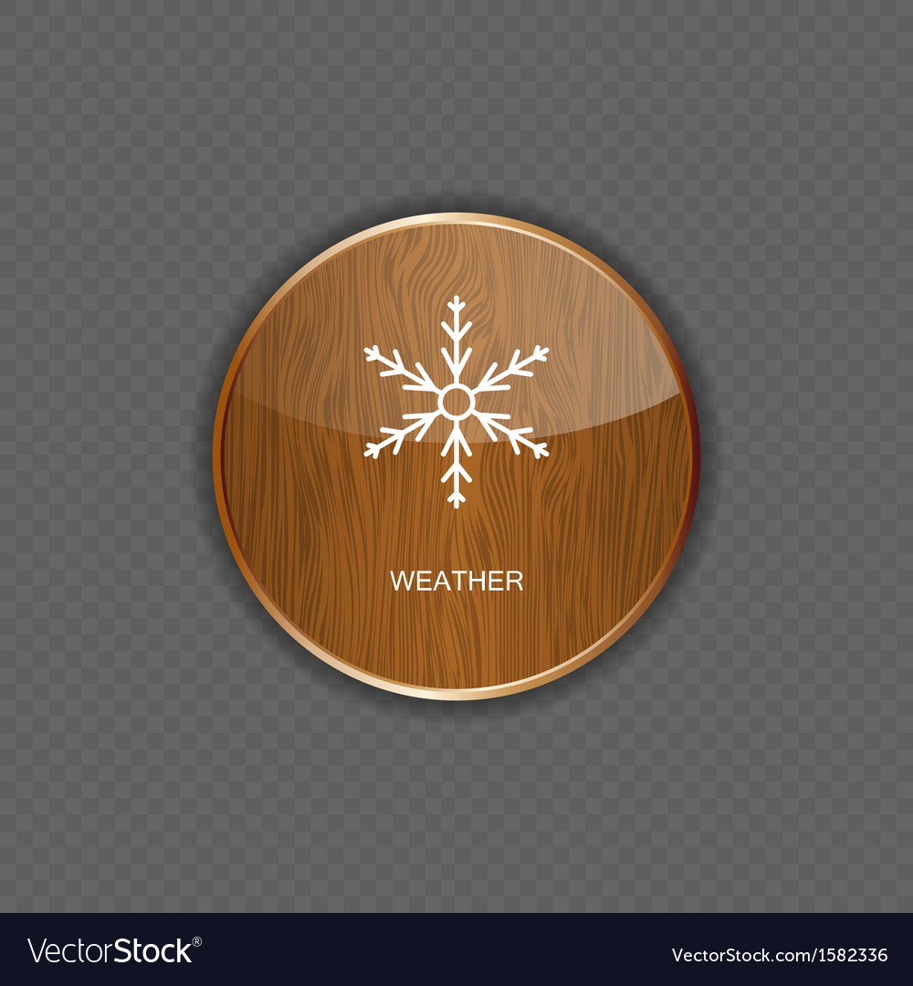 Weather wood application icons vector | Price: 1 Credit (USD $1)