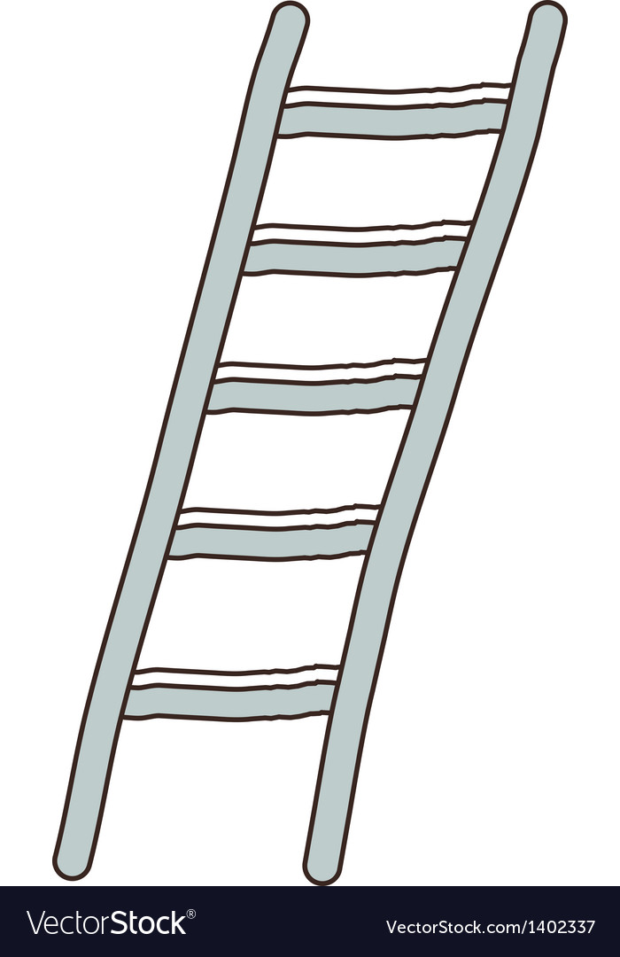 A ladder is placed vector | Price: 1 Credit (USD $1)