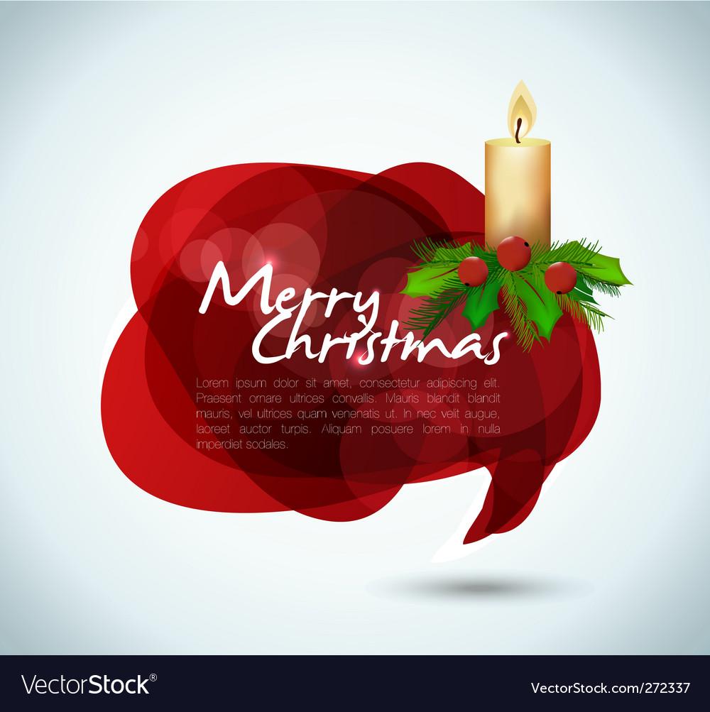 Christmas speech bubble vector | Price: 1 Credit (USD $1)