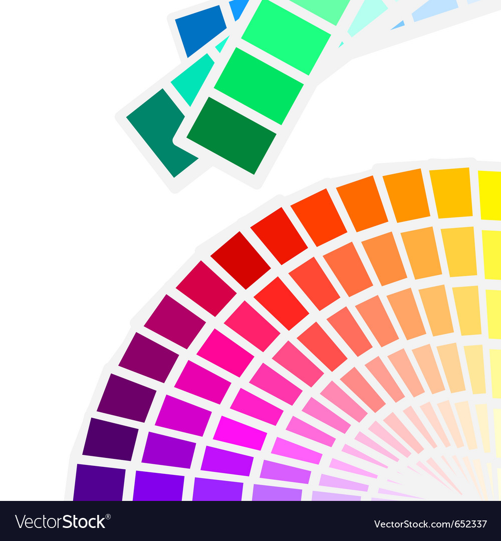 Color spectrum palette background vector | Price: 1 Credit (USD $1)