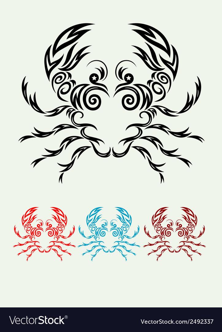 Crab ornate vector | Price: 1 Credit (USD $1)