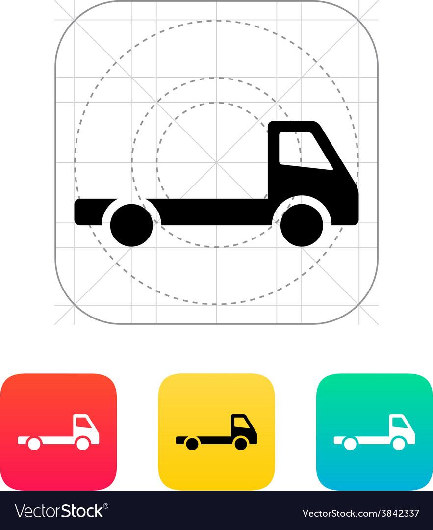 Empty truck icon vector | Price: 1 Credit (USD $1)