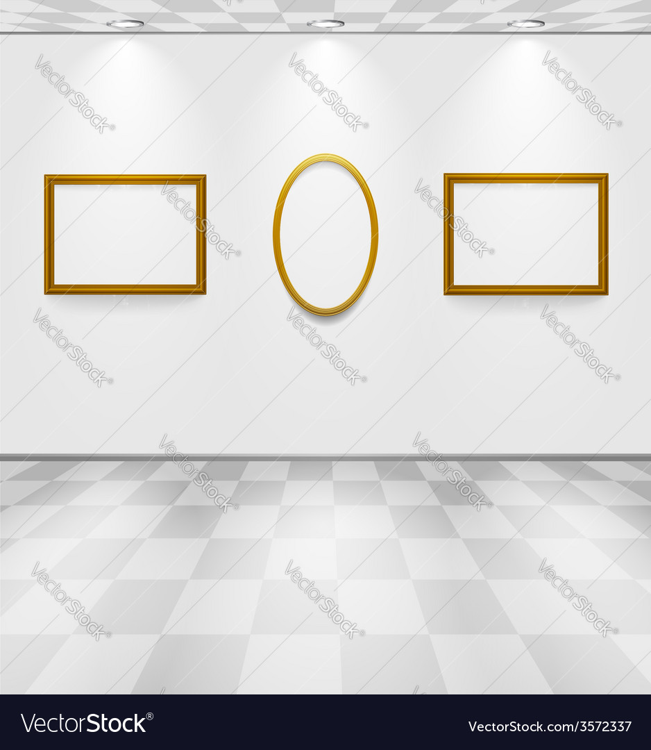Gray room with frames vector | Price: 1 Credit (USD $1)
