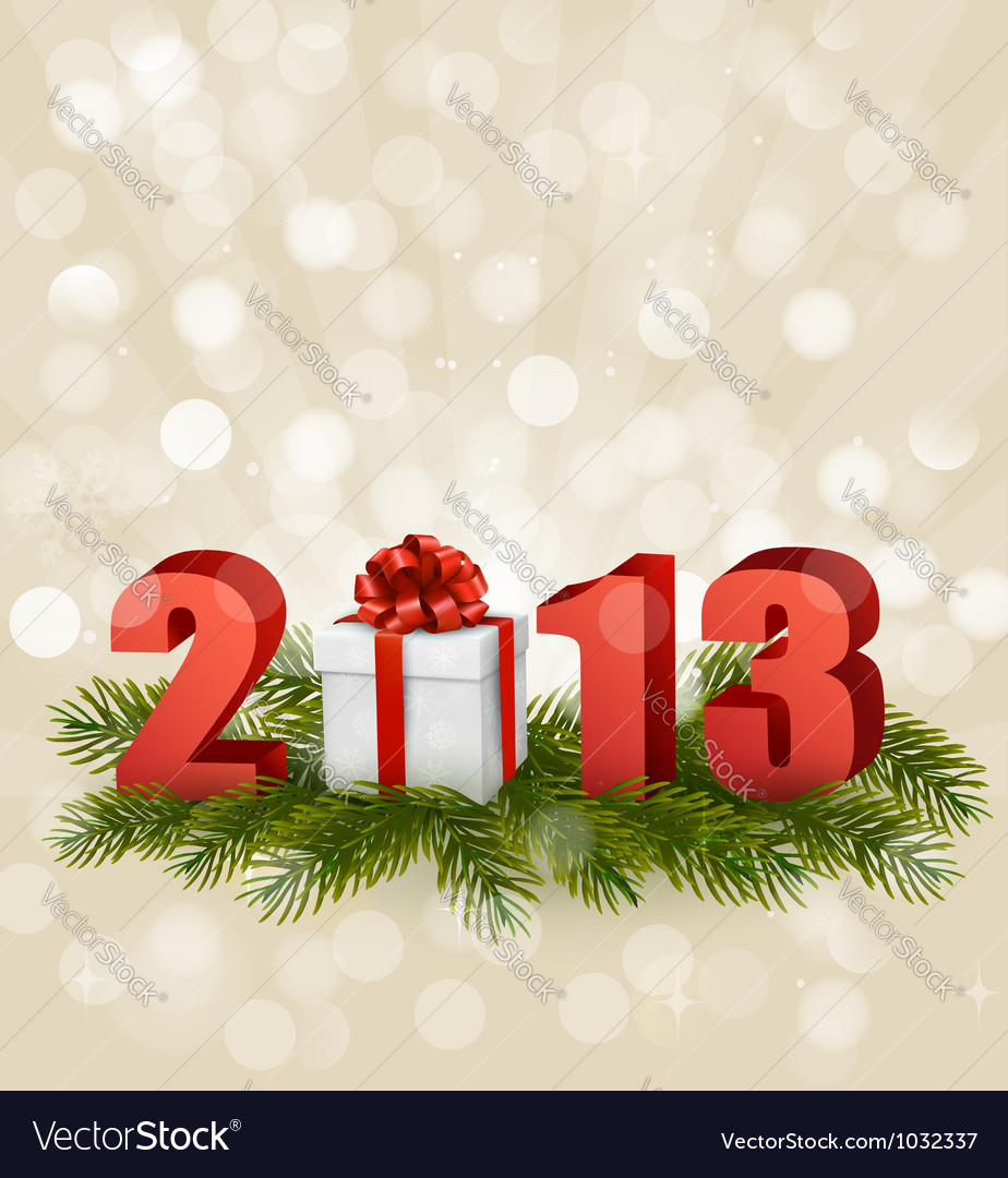 Happy new year 2013 new year design template vector | Price: 3 Credit (USD $3)