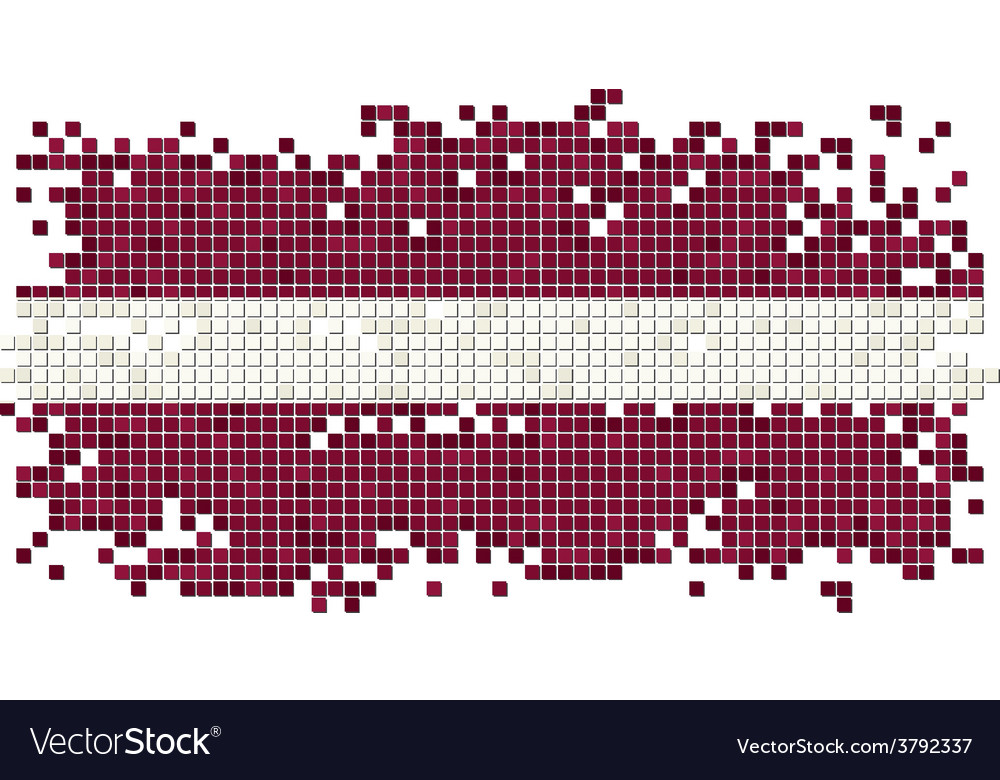 Latvian grunge tile flag vector | Price: 1 Credit (USD $1)