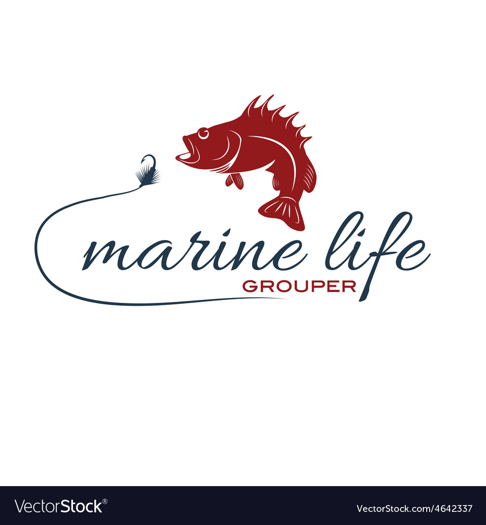 Marine life with grouper vector | Price: 1 Credit (USD $1)