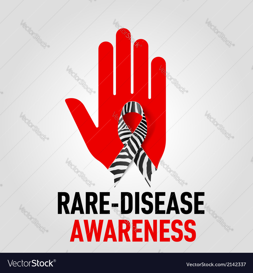 Raredisease awareness sign vector | Price: 1 Credit (USD $1)