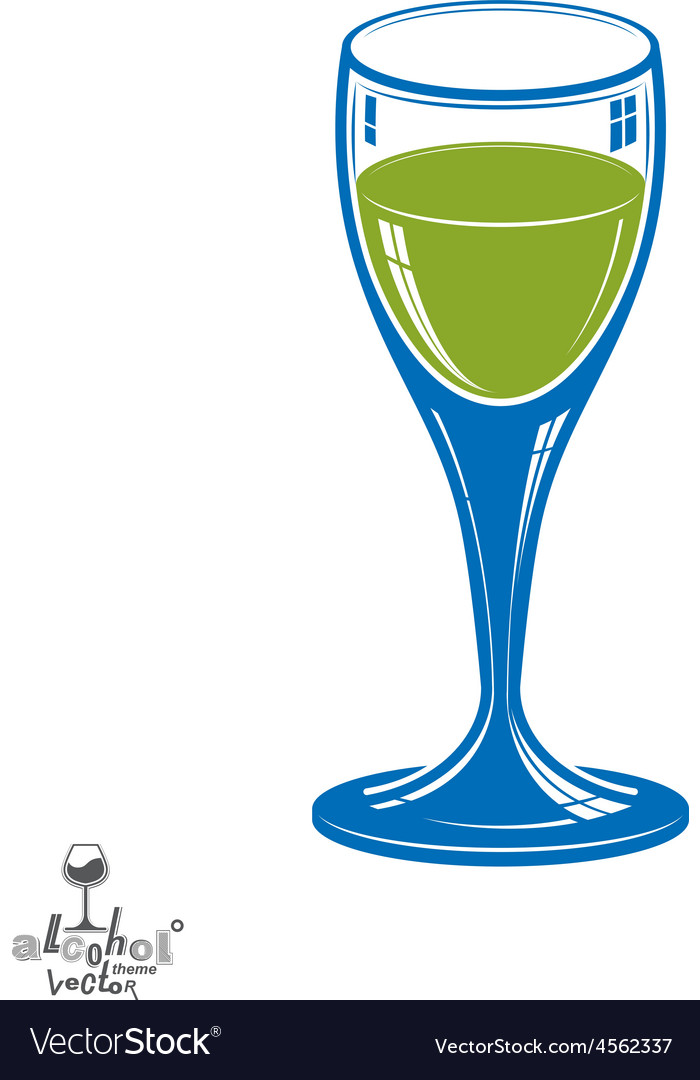 Realistic 3d wineglass beverage theme decorative vector | Price: 1 Credit (USD $1)