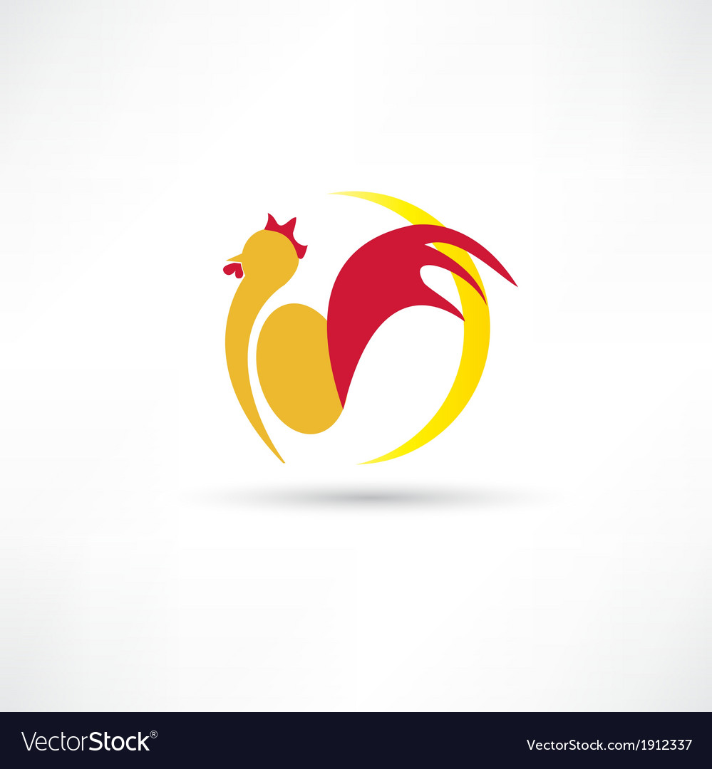 Rooster wakes up in the morning icon vector   Price: 1 Credit (USD $1)