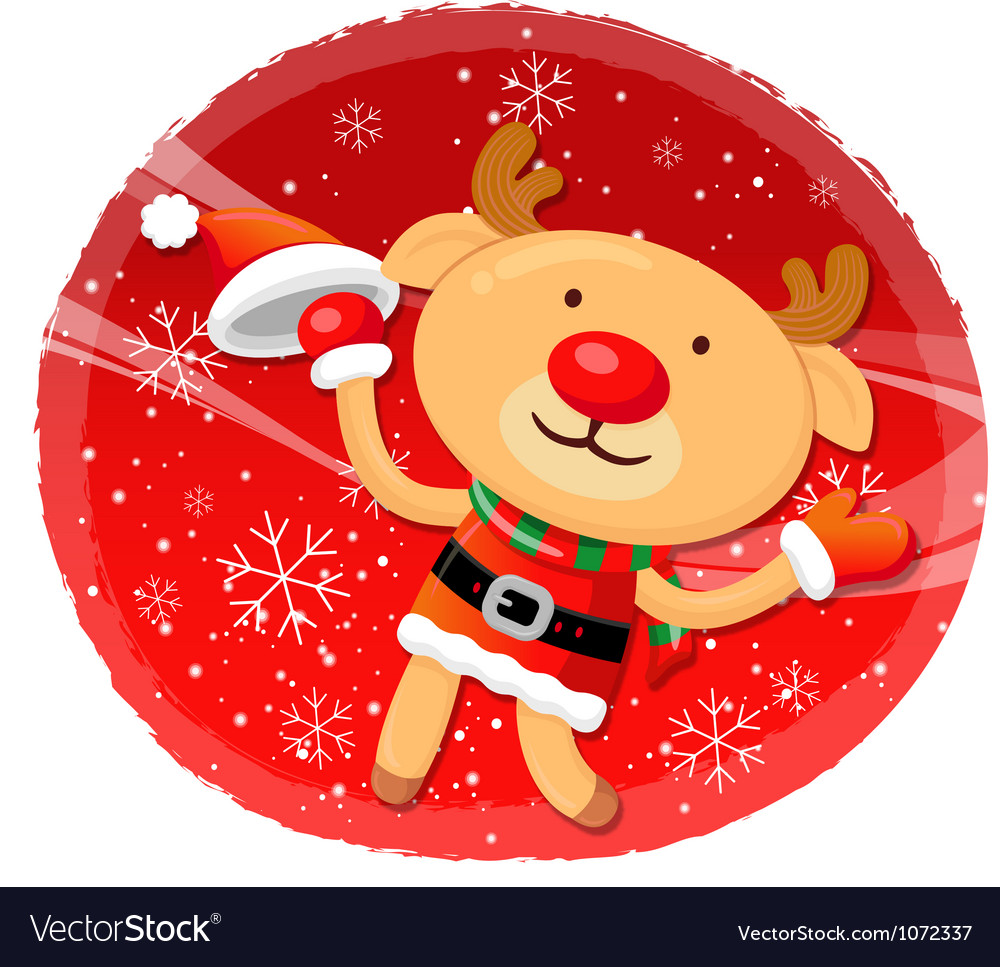 Rudolph mascot the event activity christmas vector | Price: 3 Credit (USD $3)