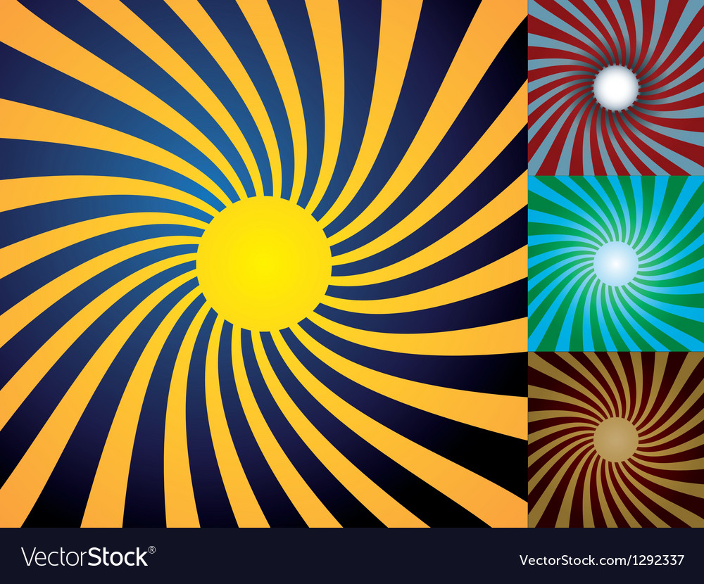 Set of abstract suns vector | Price: 1 Credit (USD $1)