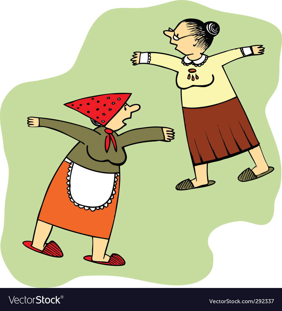Two old ladies vector   Price: 1 Credit (USD $1)