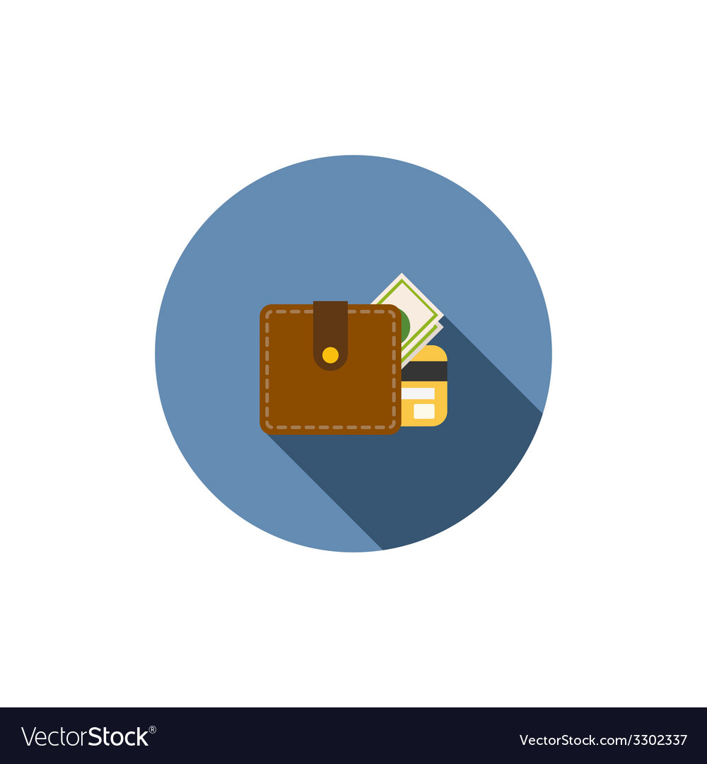 Wallet with dollars icon vector | Price: 1 Credit (USD $1)