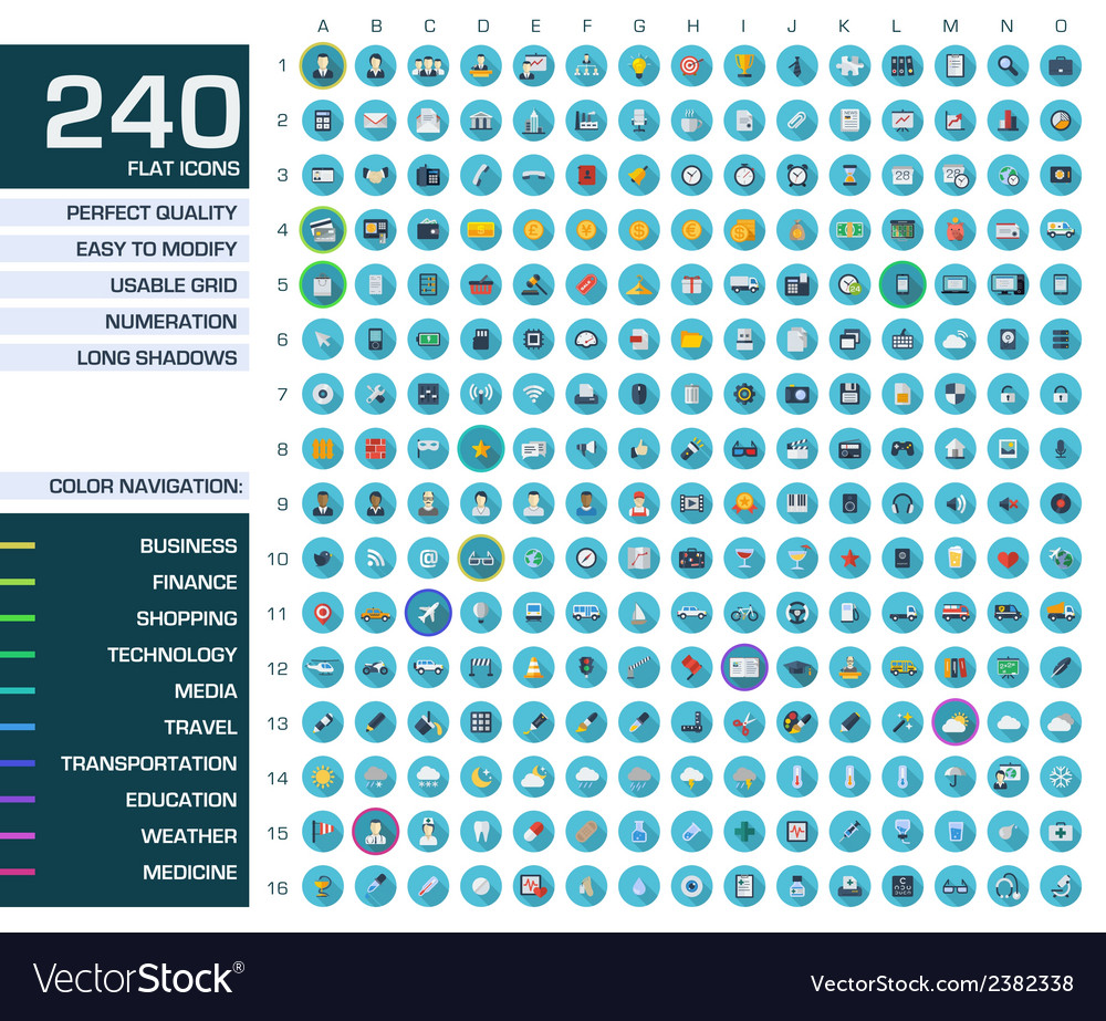 240 icons set vector | Price: 1 Credit (USD $1)
