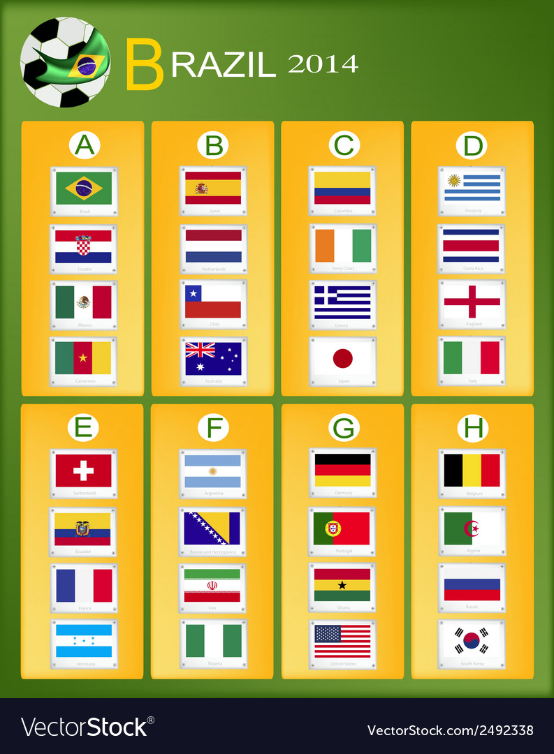 A chart of soccer tournament in brazil 2014 vector | Price: 1 Credit (USD $1)