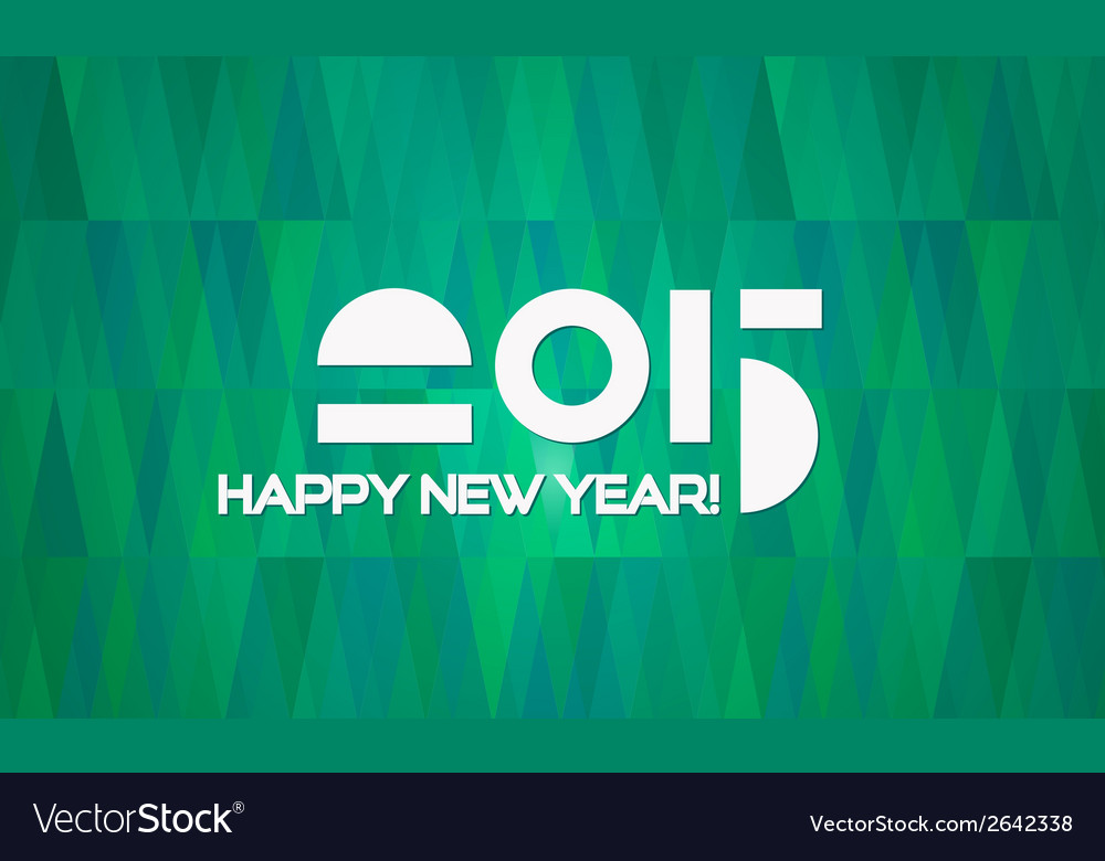 Abstract minimalistic happy new year 2015 banner vector | Price: 1 Credit (USD $1)