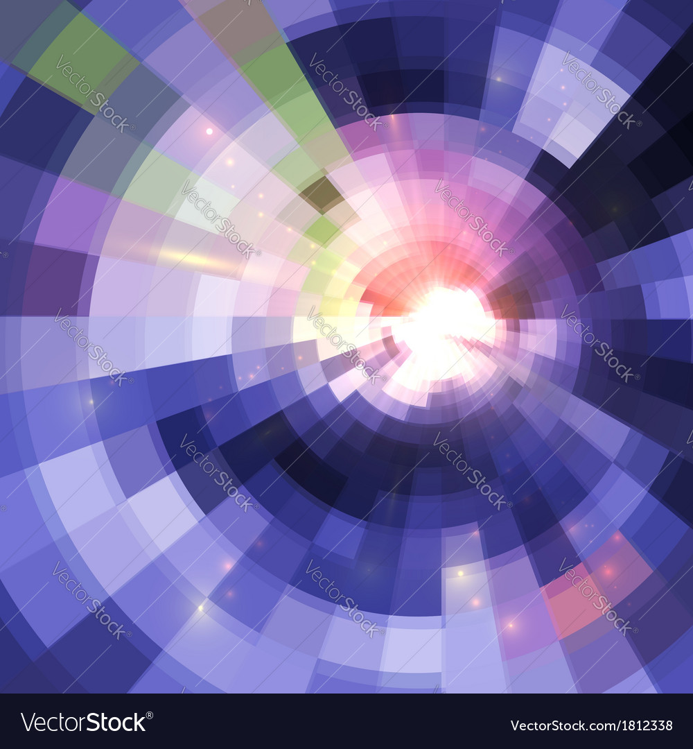 Abstract violet shining circle tunnel background vector | Price: 1 Credit (USD $1)