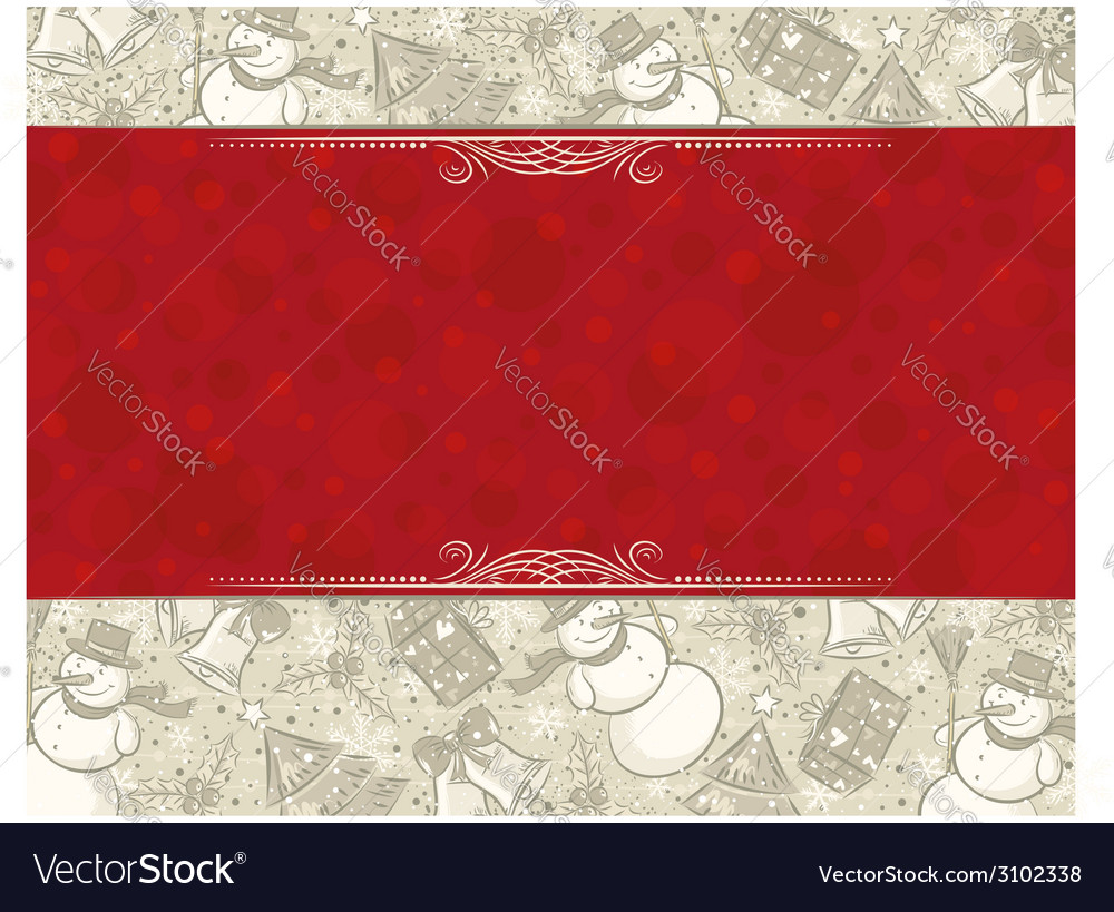 Background with christmas elements and label for m vector | Price: 1 Credit (USD $1)
