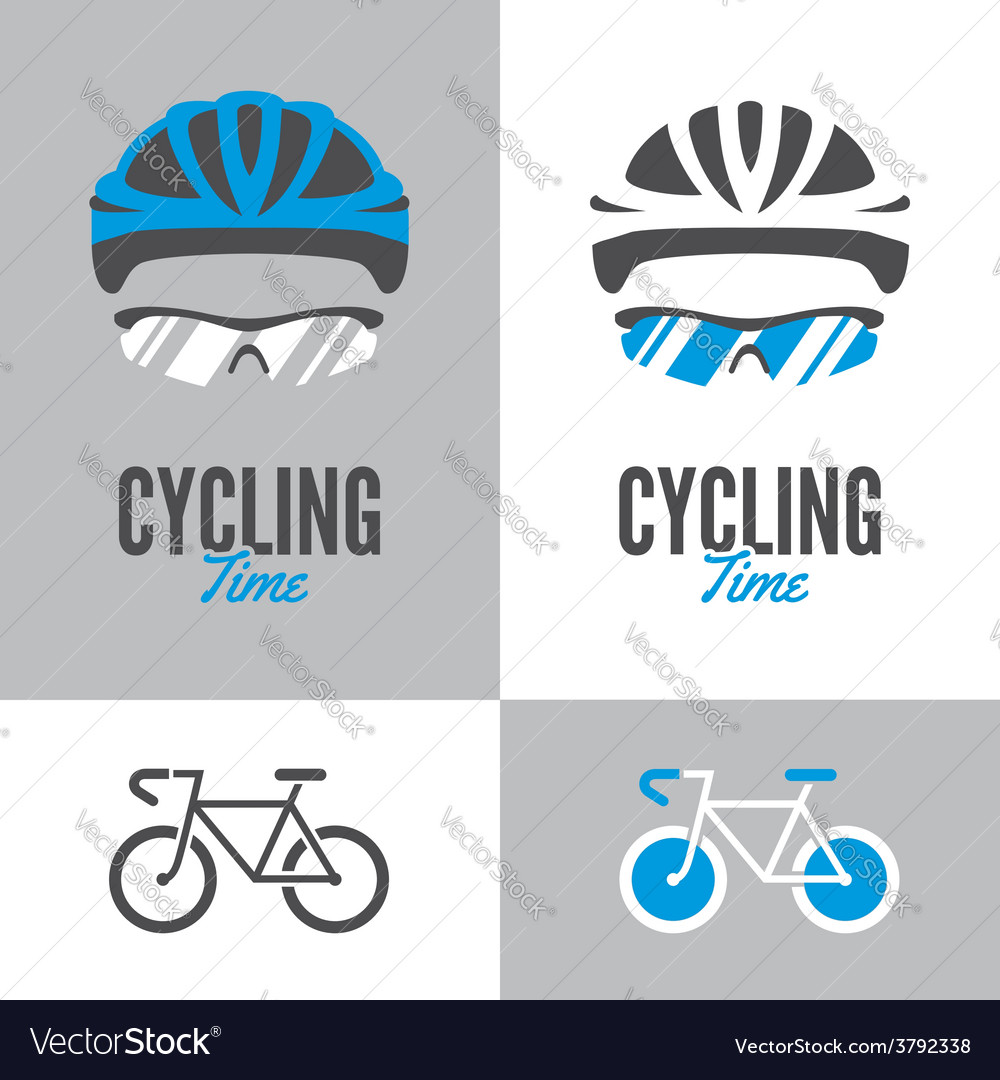 Bicycle cycling helmet and glasses vector | Price: 1 Credit (USD $1)