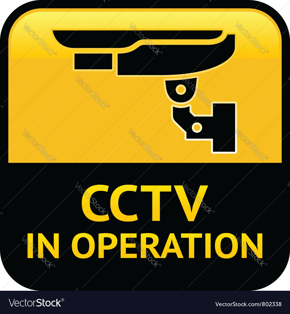 Cctv warning pictogram vector | Price: 1 Credit (USD $1)