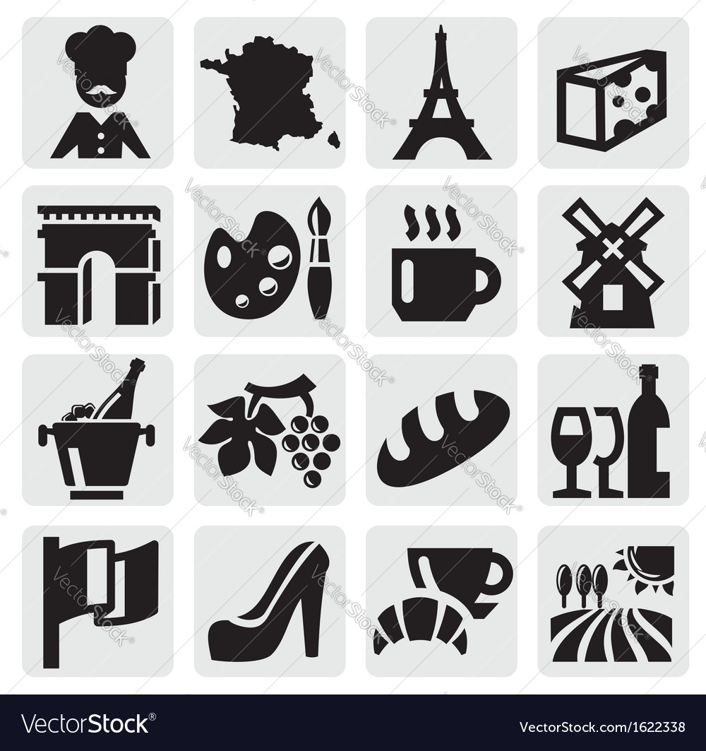 French culture vector | Price: 1 Credit (USD $1)