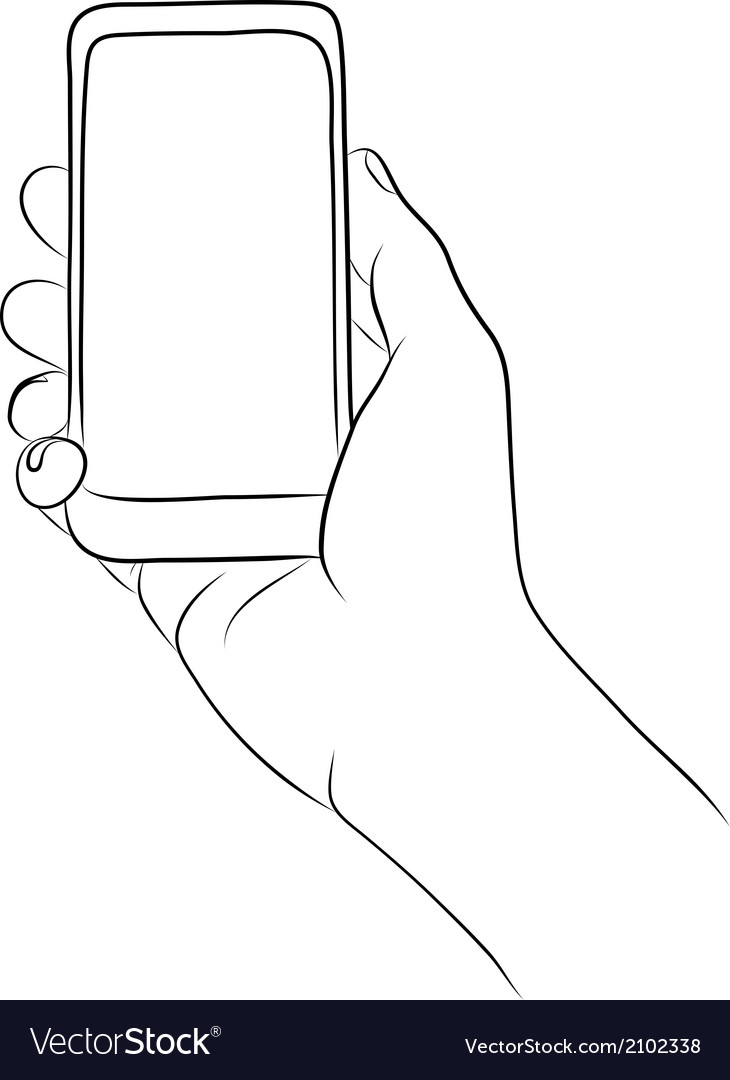 Hands holding the smart phone vector | Price: 1 Credit (USD $1)