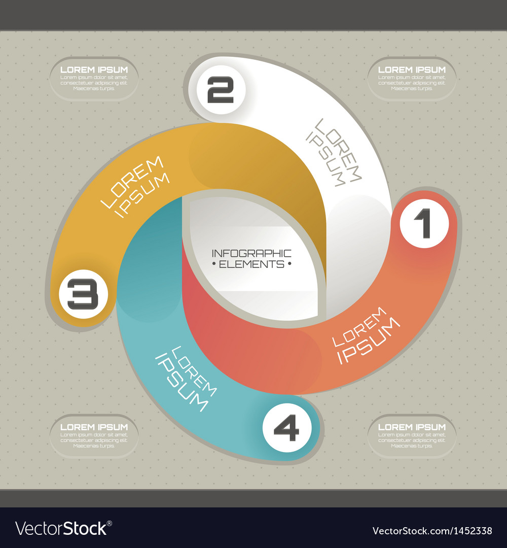 Modern infographic template vector   Price: 1 Credit (USD $1)