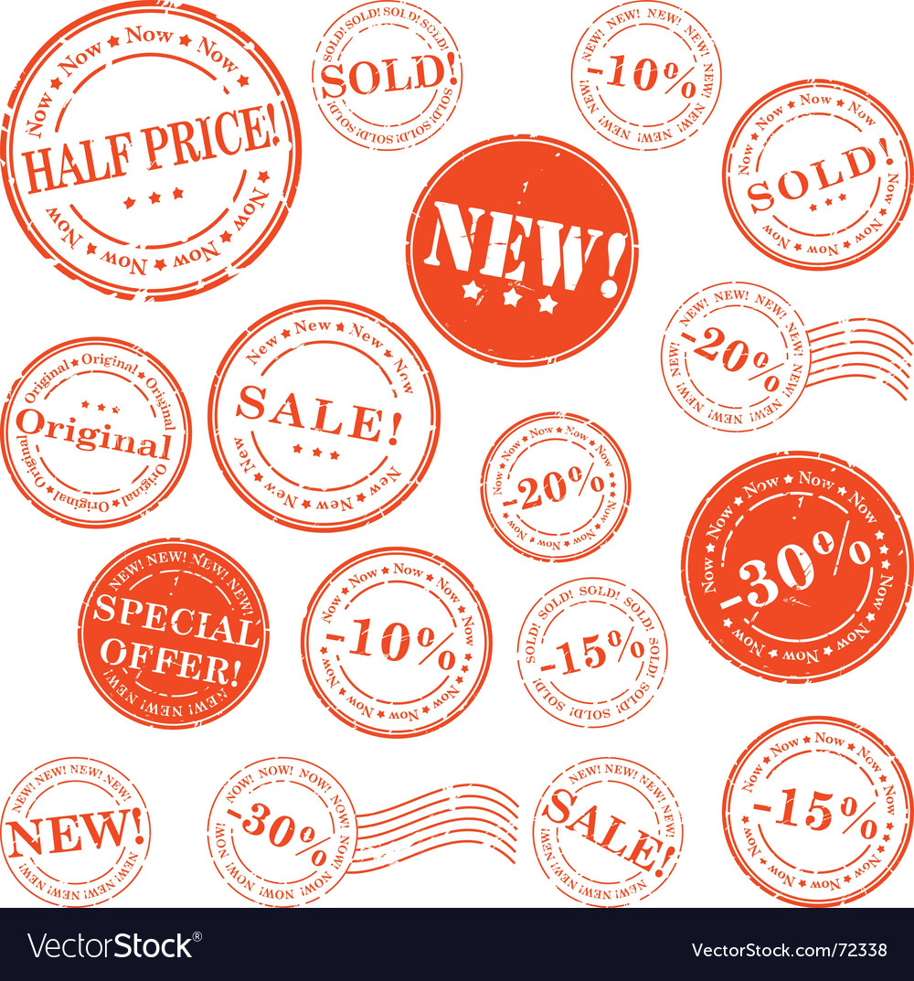 Retail stamp set vector | Price: 1 Credit (USD $1)