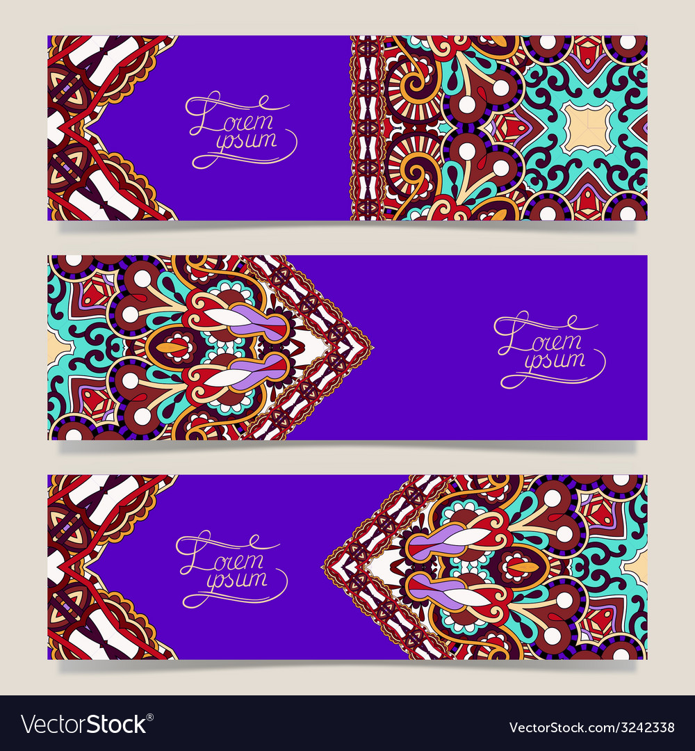 Set of three horizontal banners vector | Price: 1 Credit (USD $1)