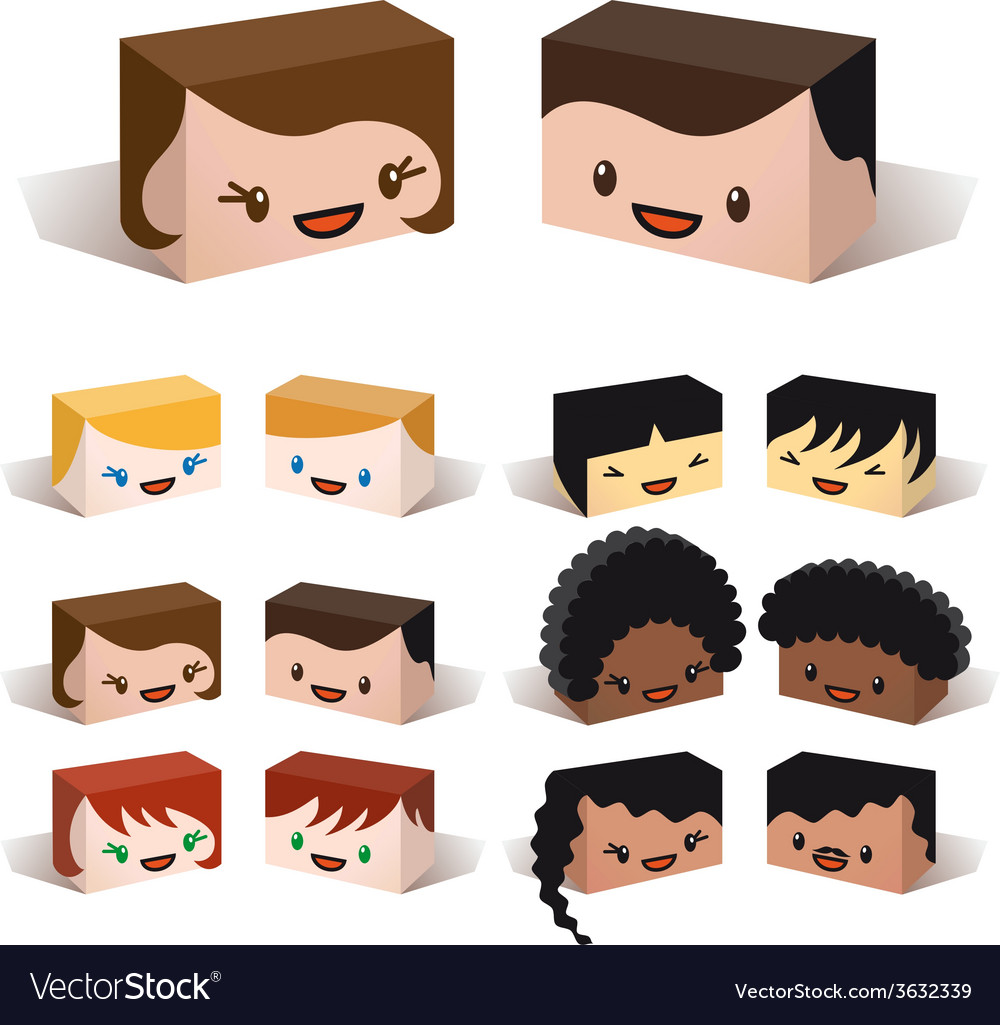 3d diversity avatars vector | Price: 1 Credit (USD $1)