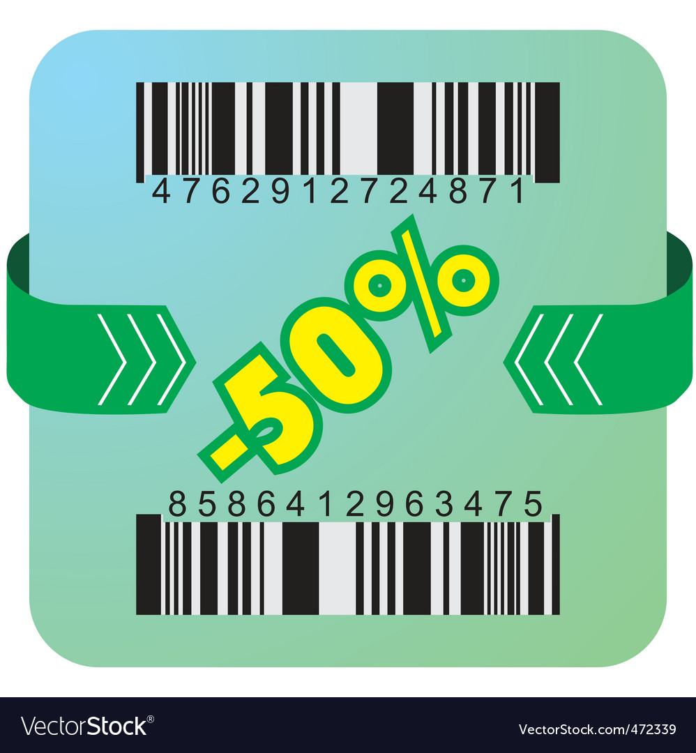 50 percent coupon vector | Price: 1 Credit (USD $1)